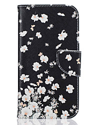 cheap -Case For Motorola Moto G4 Plus / MOTO G4 Wallet / Card Holder / with Stand Full Body Cases Flower Hard PU Leather