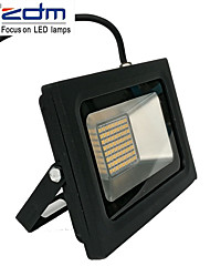 cheap -ZDM 1PC 60W 288 x 3020 SMD LEDs 1400LM Outdoor Waterproof IP65 Ultra-Thin Projection Lamp (AC170-265V) Super Thin Black Die Cast Aluminum Shell