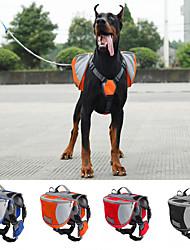 cheap -Dog Carrier Bag Travel Backpack Dog Pack Dog Backpack Dog Saddle Bag Waterproof Portable Nylon Black Red Blue