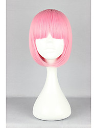cheap -Synthetic Wig Straight Kardashian Straight Bob With Bangs Wig Pink Pink Synthetic Hair Women's Pink hairjoy