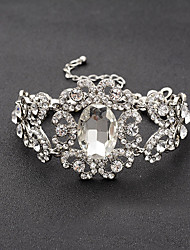 cheap -Women's Chain Bracelet Bridal Rhinestone Bracelet Jewelry Silver For Wedding Party Engagement