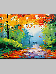 cheap -Mintura® Hand Painted Modern Abstract Landscape Oil Paintings On Canvas Wall Art Pictures For Home Decoration Ready To Hang