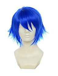 cheap -vocaloid kaito itsuka tenma no kuro usagi blue multipurpose upturned short halloween wigs synthetic wigs costume wigs Halloween
