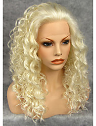 cheap -Synthetic Wig Curly Curly Lace Front Wig Blonde Blonde Grey Synthetic Hair Women's Natural Hairline Blonde Gray