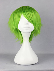 cheap -Synthetic Wig Cosplay Wig Curly Curly Wig Short Green Synthetic Hair Women's Green hairjoy
