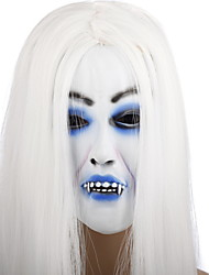 cheap -Halloween Mask Rubber Ghost Scary Scream Horror Adults'