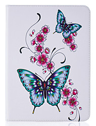 cheap -Case For Samsung Galaxy / Tab S2 8.0 / Tab S2 9.7 Tab E 9.6 / Tab E 8.0 / Tab A 7.0 Wallet / Card Holder / with Stand Full Body Cases Butterfly Hard PU Leather