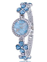 cheap -Women's Bracelet Watch Diamond Watch Quartz Silver Rhinestone Imitation Diamond Analog Ladies Flower Casual Bangle Fashion - Purple Pink Light Blue One Year Battery Life / Jinli 377