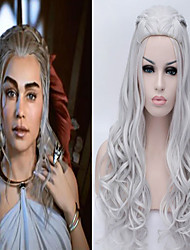 cheap -Synthetic Wig Wavy Wavy With Ponytail Wig Blonde Golden Blonde Grey Synthetic Hair Women's Braided Wig African Braids Blonde Gray