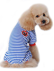 cheap -Dog Jumpsuit Pajamas Puppy Clothes Sailor Casual / Daily Winter Dog Clothes Puppy Clothes Dog Outfits Black Red Blue Costume for Girl and Boy Dog Cotton S M L XL XXL