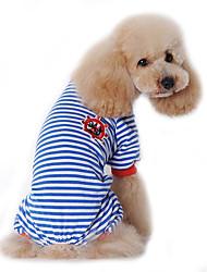 cheap -Dog Jumpsuit Pajamas Winter Dog Clothes Black Red Blue Costume Cotton Sailor Casual / Daily S M L XL XXL