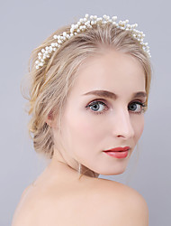 cheap -Imitation Pearl Tiaras Headbands Headpiece Classical Feminine Style