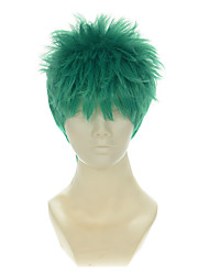 cheap -one piece roronoa zoro mixed blue green halloween wigs synthetic wigs costume wigs Halloween