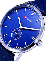 cheap -Women's Sport Watch Military Watch Wrist Watch Quartz Leather Black / Blue / Brown 30 m Cool Analog Vintage Casual Fashion Simple watch - Blue Brown / Gold Black / Silver Two Years Battery Life