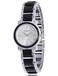cheap -Women's Bracelet Watch Simulated Diamond Watch Diamond Watch Quartz Black / White Casual Watch / Analog Ladies Charm Casual Bohemian Fashion - White Black