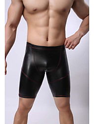 cheap -Men's Basic Sexy Boxer Briefs - Normal, Solid Colored Mid Rise Black M L XL / Club