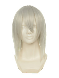 cheap -Synthetic Wig Cosplay Wig Straight Straight Wig Blonde White Synthetic Hair Women's Blonde OUO Hair
