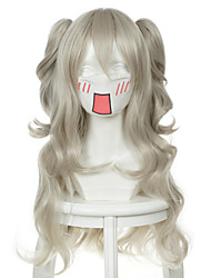 cheap -charlotte charlotte wyndham black and white double cauda cosplay wig Halloween