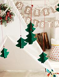 Недорогие -7pcs Рождественская елка украшена трехмерные украшения новое окно отеля торговый центр нетканое полотно