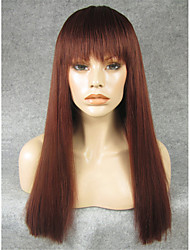 cheap -Synthetic Wig Straight Straight With Bangs Wig Auburn Synthetic Hair Women's Brown