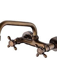 cheap -Bathroom Sink Faucet - Widespread Antique Copper Centerset Two Holes / Two Handles Two HolesBath Taps
