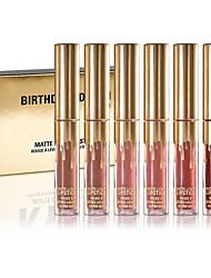 abordables -Liquide Brillant à Lèvres 6 pcs Mat Longue Durée Professionnel / Séchage rapide Maquillage Cosmétique Quotidien / Fête d'anniversaire Accessoires de Toilettage