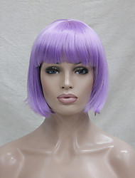 cheap -Cosplay Costume Wig Synthetic Wig Cosplay Wig Straight Straight Bob Wig Purple Synthetic Hair Women's Purple