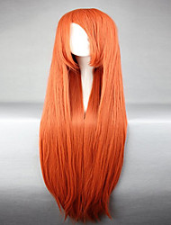 cheap -Synthetic Wig Cosplay Wig Straight Straight Wig Orange Synthetic Hair Women's Red hairjoy