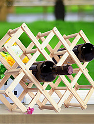 cheap -Creative Kitchen Wood Art Wine Rack Grogshop Restaurant Decoration