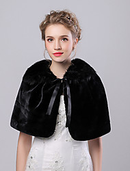 cheap -Capelets Faux Fur / Imitation Cashmere Wedding / Party Evening Women's Wrap With Bowknot