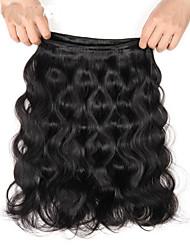 cheap -3 Bundles Indian Hair Body Wave Virgin Human Hair Natural Color Hair Weaves / Hair Bulk Human Hair Weaves 8a Human Hair Extensions / 10A