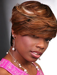 cheap -Synthetic Wig Natural Wave Natural Wave Wig Brown Synthetic Hair