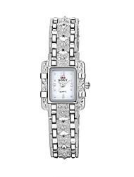 cheap -Women's Casual Watch Fashion Watch Bracelet Watch Quartz Silver 30 m Water Resistant / Waterproof Analog Ladies Charm Casual Elegant - White Black