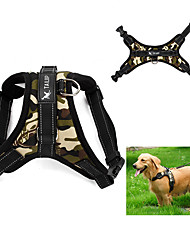 cheap -Dog Harness Adjustable / Retractable Vest Leopard Camo / Camouflage Fabric Red Camouflage Color Leopard