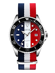 cheap -SKMEI Men's Wrist Watch Quartz White / Blue / Red 30 m Water Resistant / Waterproof Calendar / date / day Casual Watch Analog Luxury Classic Casual Fashion - White Red Blue