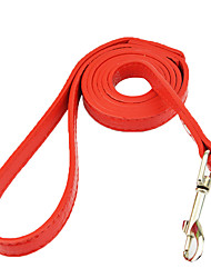 cheap -Dog Leash Casual Solid Colored Stripes PU Leather Red Blue Pink