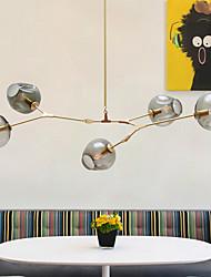cheap -5-Light 150cm(59 inch) Mini Style Pendant Light Metal Glass Sputnik Gold Retro 110-120V 220-240V