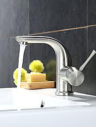 cheap -Bathroom Sink Faucet - Standard / Rain Shower / Widespread Stainless Steel Vessel Single Handle One HoleBath Taps