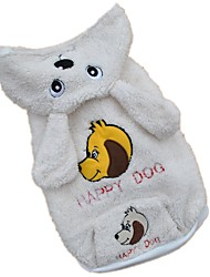 cheap -Dog Costume Hoodie Winter Dog Clothes White Costume Polar Fleece Animal Cosplay XS S M L