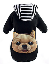 cheap -Dog Hoodie Commuter Backpack Dog Clothes Animal Black Red Cotton Costume For Spring &  Fall Winter Men's Women's