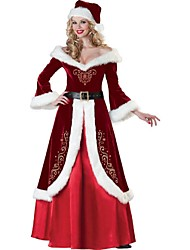 cheap -Santa Suit Cosplay Costume Sexy Uniforms Women's Terylene Cosplay Accessories Christmas / Carnival Costumes