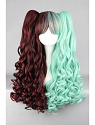 cheap -Cosplay Costume Wig Synthetic Wig Cosplay Wig Wavy Wavy Wig Green Synthetic Hair Women's Braided Wig African Braids Green hairjoy