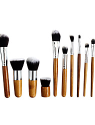 cheap -Professional Makeup Brushes Makeup Brush Set 11 Portable Professional Wood for