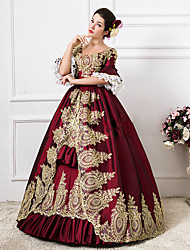 cheap -Rococo Victorian 18th Century Dress Party Costume Masquerade Ball Gown Women's Lace Cotton Costume Green / Royal Blue / Red Vintage Cosplay Party Prom Floor Length Long Length Ball Gown Plus Size