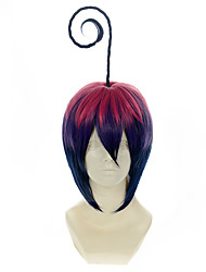 cheap -blue exorcist mephisto pheles gradient pink purple and blue halloween wigs synthetic wigs costume wigs Halloween