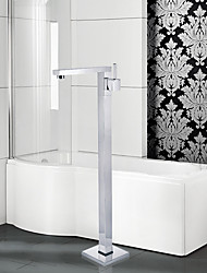 cheap -Contemporary Art Deco/Retro Modern Tub And Shower Handshower Included Widespread Floor Standing Ceramic Valve Single Handle One Hole