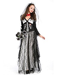cheap -Skeleton / Skull / Zombie / Vampire Cosplay Costume Sexy Uniforms Women's Terylene Cosplay Accessories Halloween / Carnival / New Year Costumes / Headwear