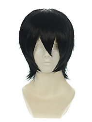 cheap -death note zaizen hikaru kylin zhang black all purpose upturned short halloween wigs synthetic wigs costume wigs Halloween