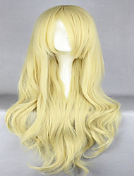 cheap -Synthetic Hair Wigs Wavy Capless Carnival Wig Halloween Wig Cosplay Wig Blonde
