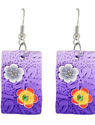 cheap -Women's Drop Earrings Earrings Jewelry Purple / Blue / Pink For Daily Casual